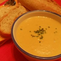 Sweet Corn & Sweet Potato Soup