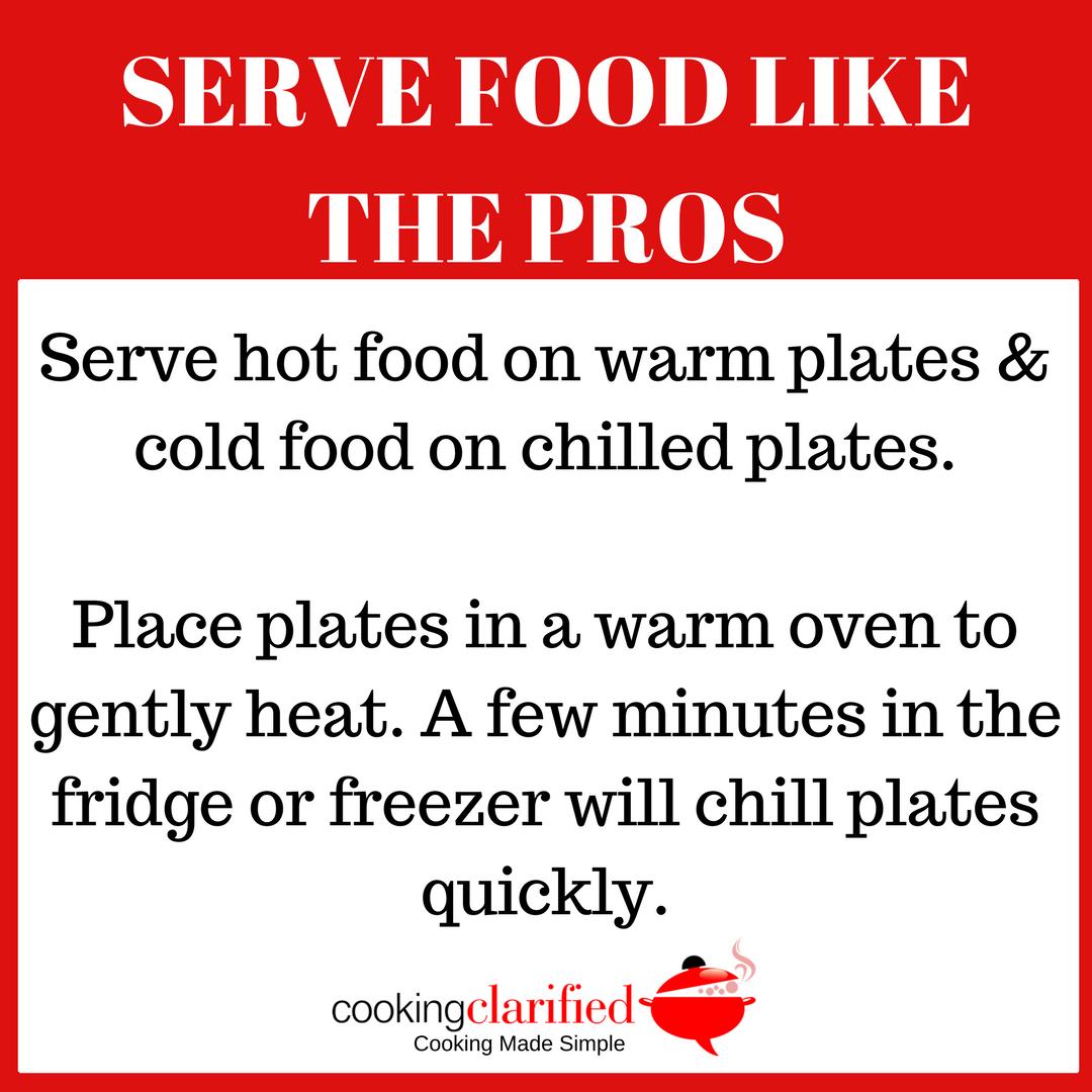 Serve Food Like the Pros