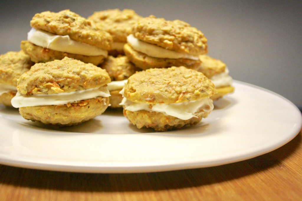 Flour 101 - carrot-cake-cookies-with-cream-cheese-filling