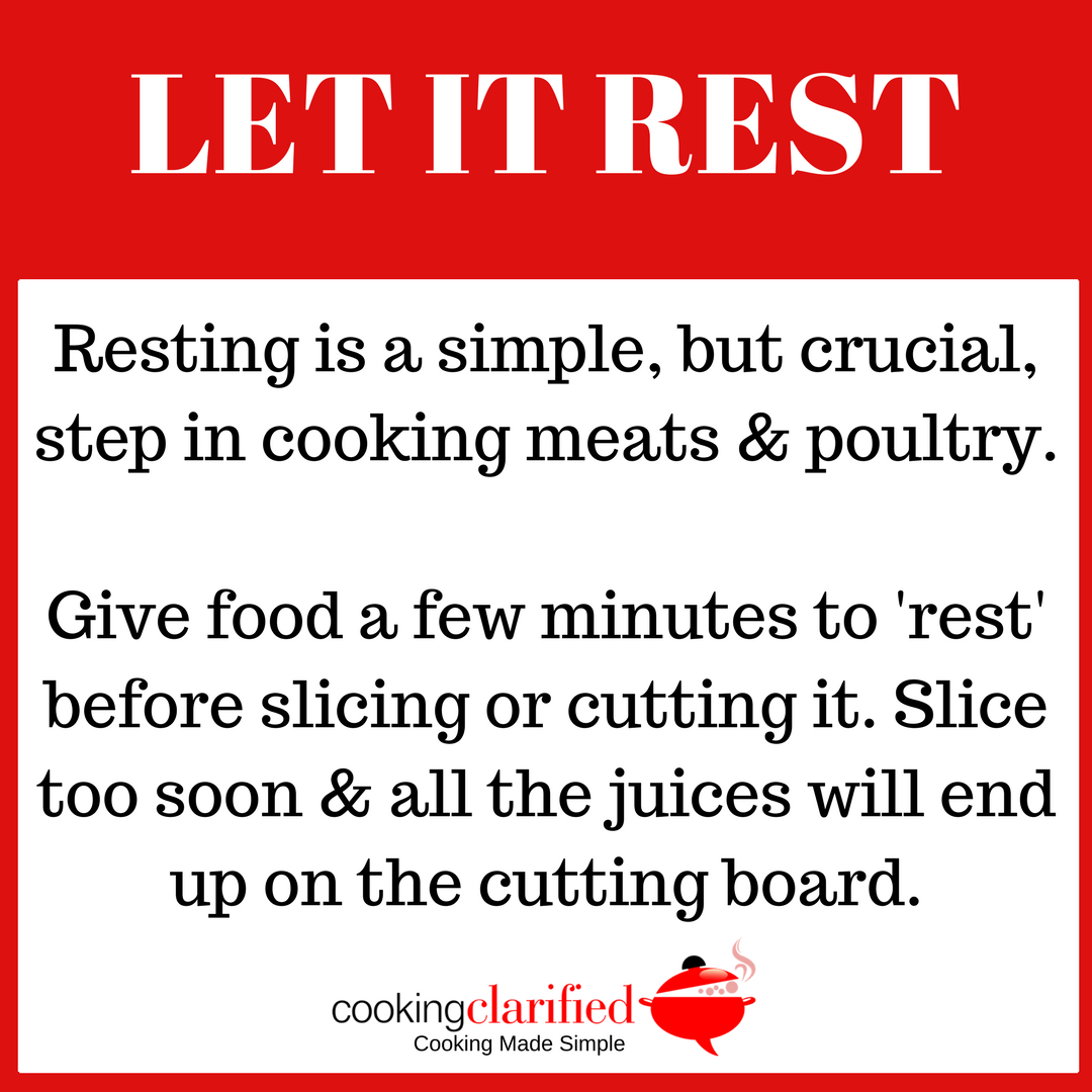 Let It Rest | Rest Meat & Poultry After Cooking