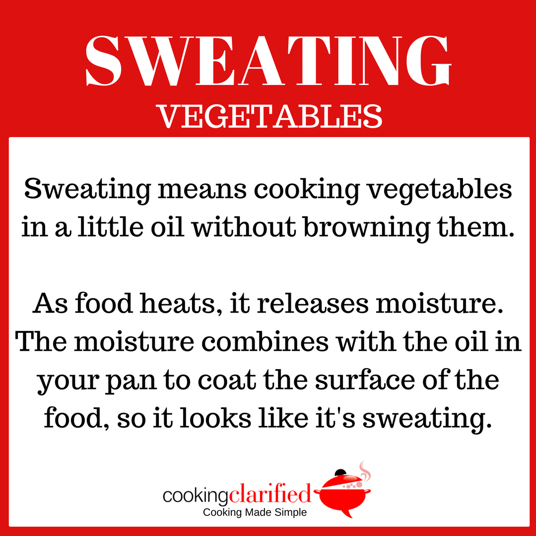 Sweating Vegetables