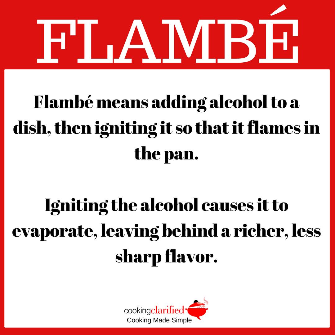 How to flambé