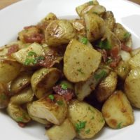Roasted Potatoes with Bacon & Parsley