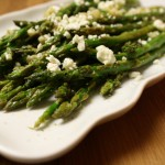 Roasted Asparagus with Feta