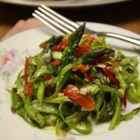 Asparagus & Red Pepper Slaw