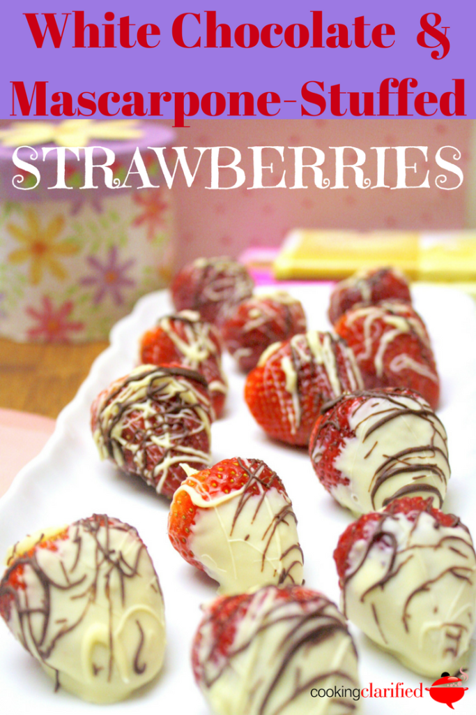 White Chocolate & Mascarpone-Stuffed Strawberries are just the summer dessert you need! Once they're hulled, strawberries make the perfect vessel for filling with this delicious and creamy white chocolate filling. You won't be able to eat just one!