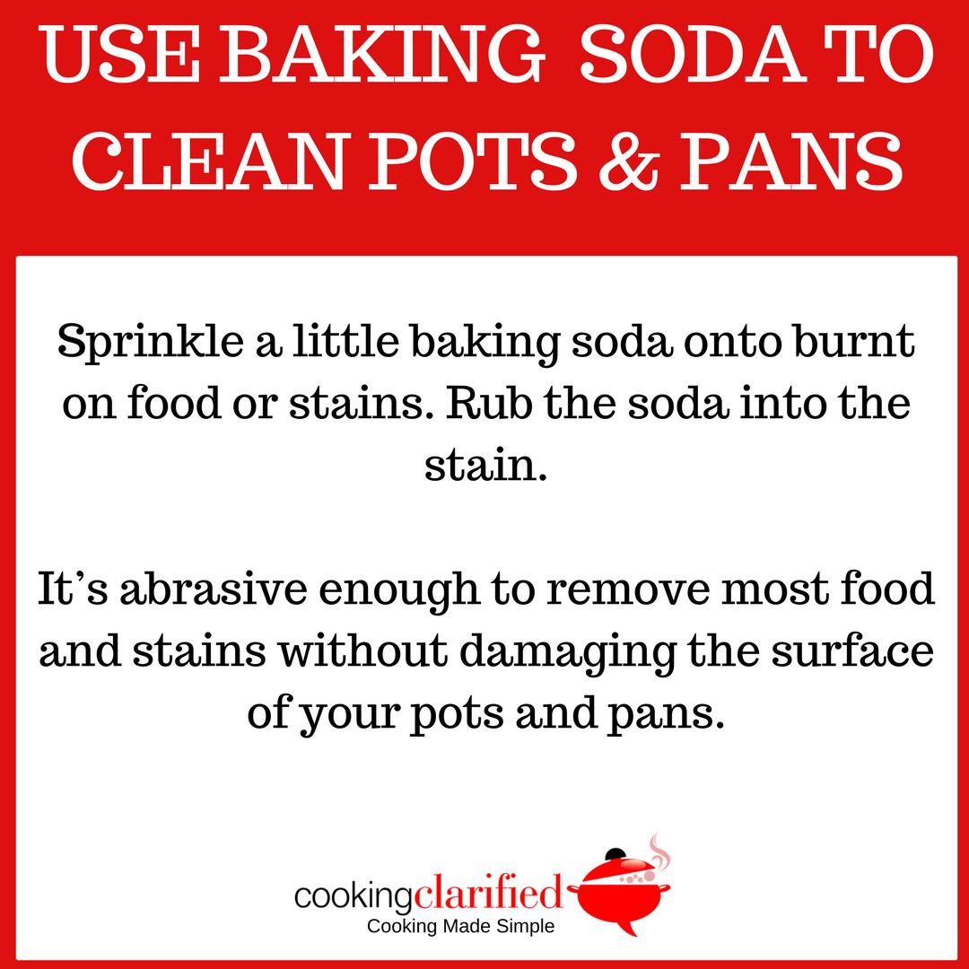Baking soda to clean pots