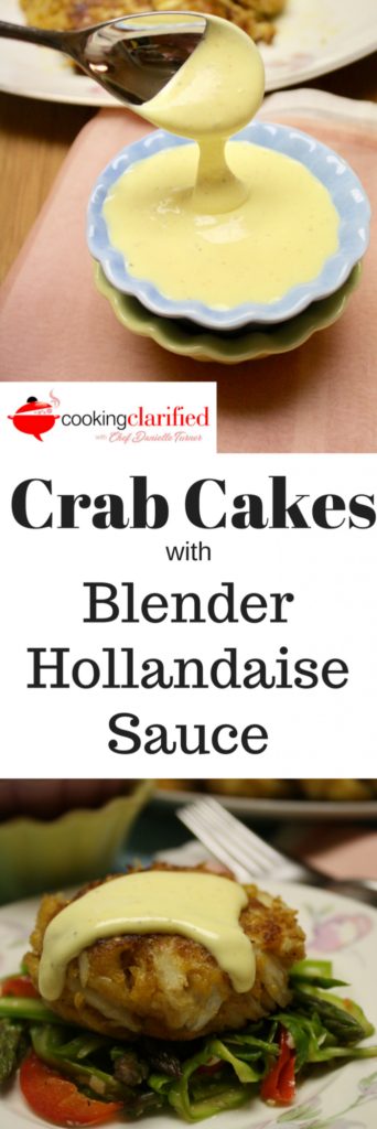 Crab Cakes with Blender Hollandaise