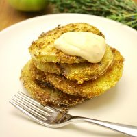 Green Tomatoes | Lemon Thyme Fried Green Tomatoes with