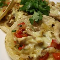 Chicken & Caramelized Onion Tostadas