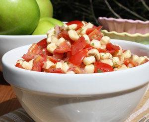 Corn tomato herb salad