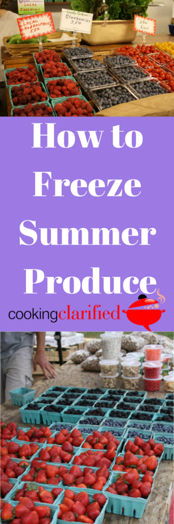 How to Freeze Summer Produce