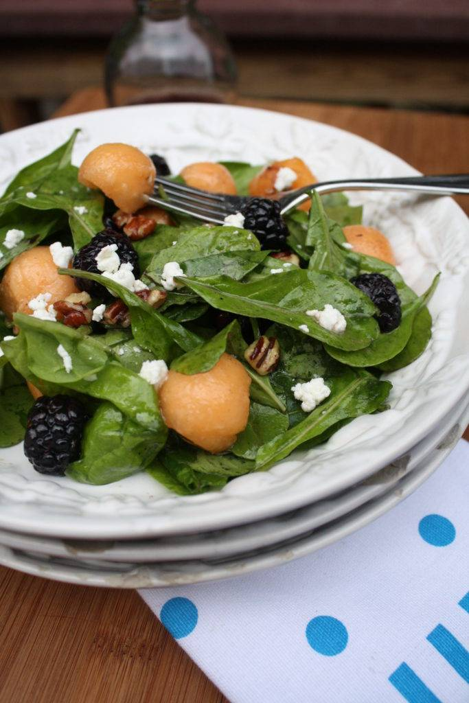 Spinach, Blackberry & Cantaloupe Salad