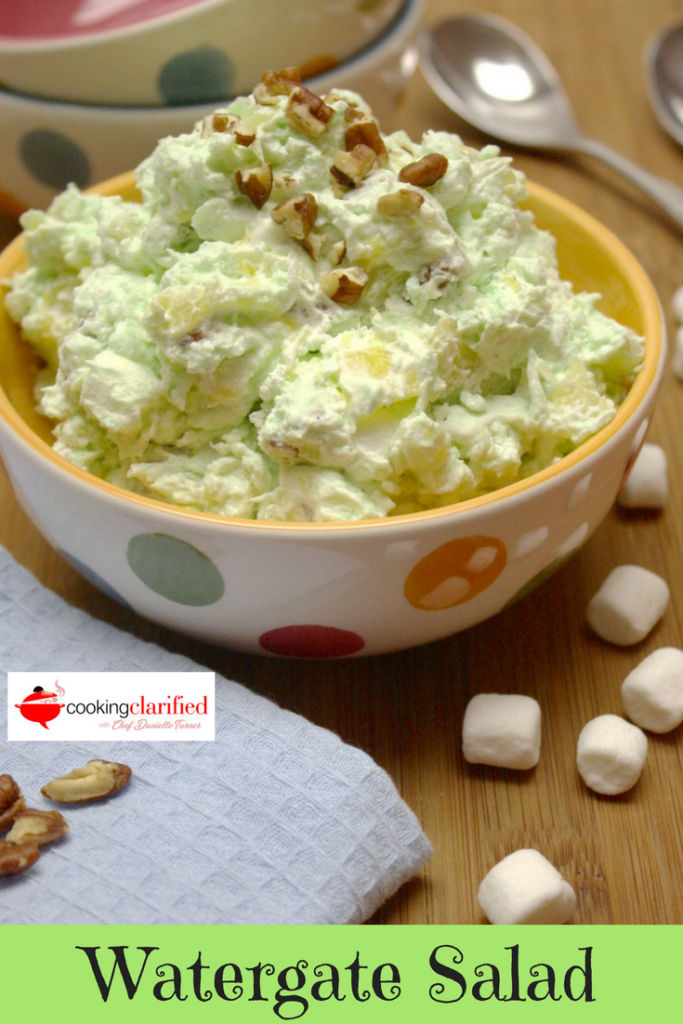 This Watergate Salad is the perfect retro recipe for summer! It's a delicious mix of flavors straight from the 1970s and it stirs up in minutes!