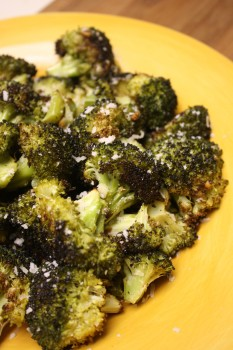 Roasted Broccoli with Garlic & Parmiggiano