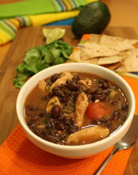 Black Bean & Chicken Soup