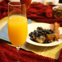 Valentine's Day Breakfast in Bed – Passion Fruit Mimosa