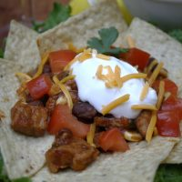 Pork, Black Bean & Corn Nachos