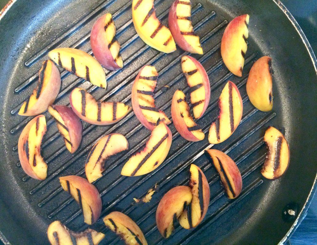 Grill peaches