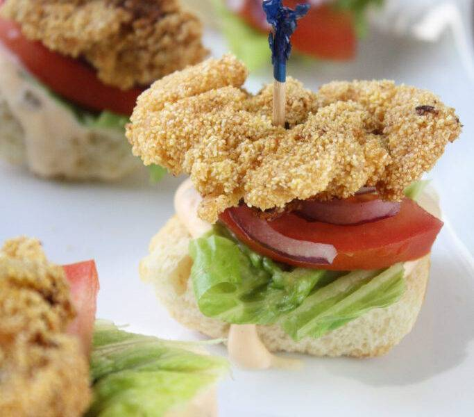 Mini Fried Oyster Po' Boy