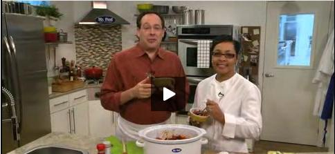 Chef Danielle in the Mr. Food Test Kitchen!