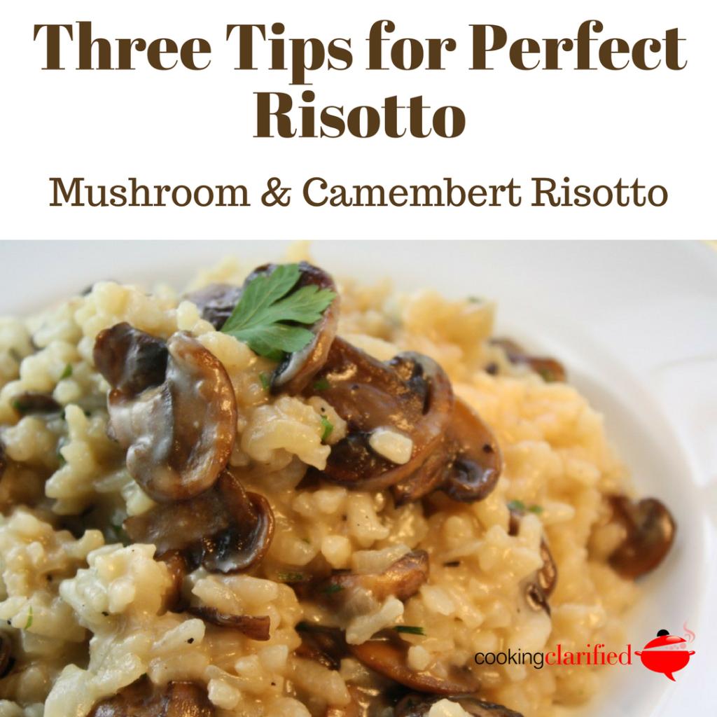 Mushroom Camembert risotto