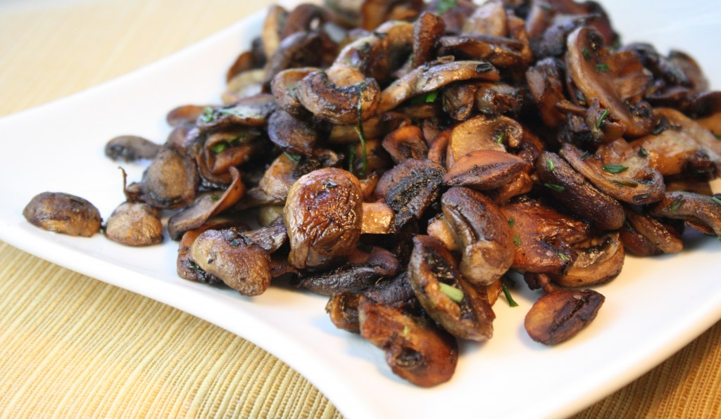 Clean & sauté mushrooms