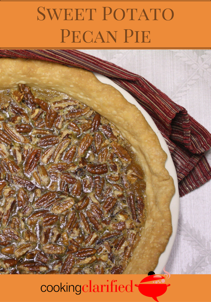 Torn Between Two Pies - Sweet Potato Pecan Pie - Cooking Clarified