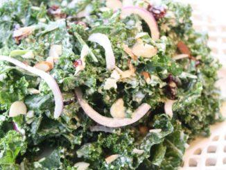 Kale Salad with Cranberries & Almonds
