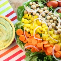Colossal Veggie Salad with Avocado Dill Dressing