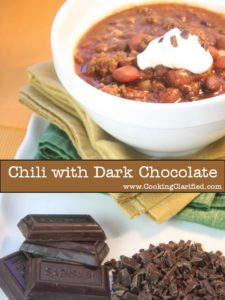 Chili with Dark Chocolate