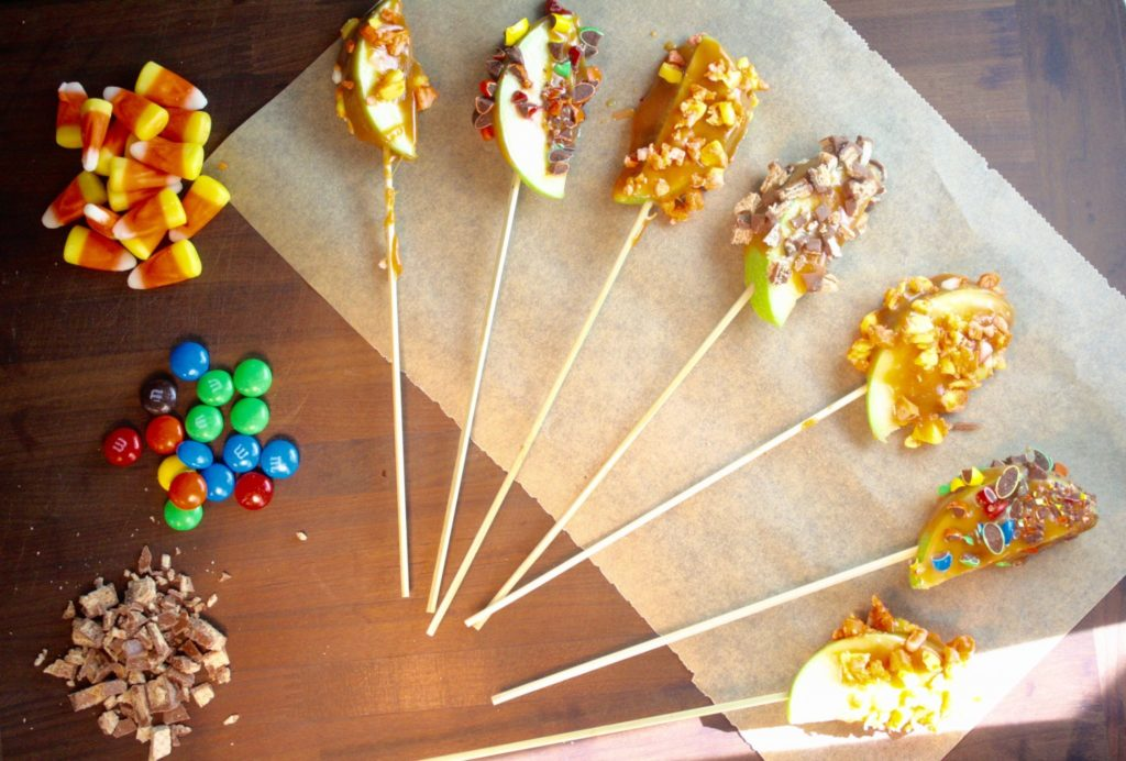 Easy Halloween Menu - Caramel Apple Slices