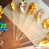 Candy Coated Caramel Apple Slices