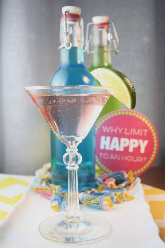 Easy Halloween Menu - jolly rancher vodka cocktail