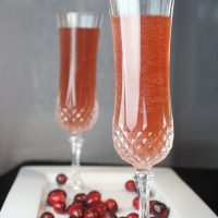 Champagne 101 – Cranberry Champagne Cocktail