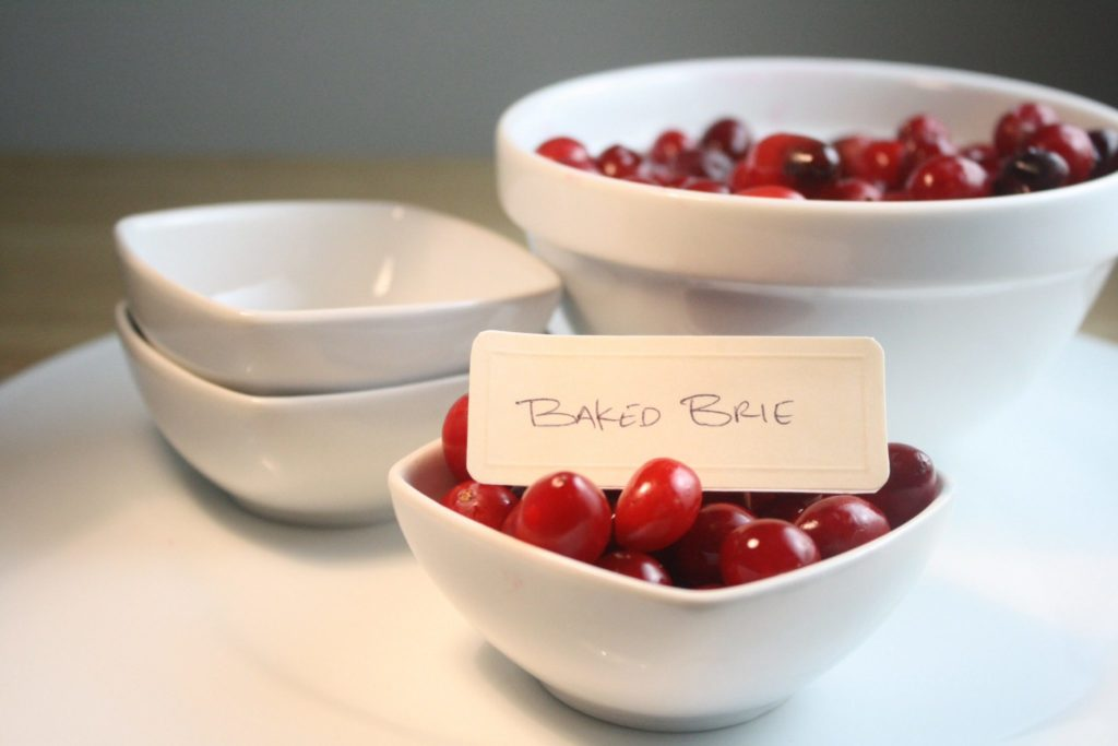 Cranberry Place Cards