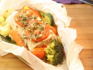 How to Cook Fish in Parchment Paper - Mahi Mahi with Vegetables & Garlic-Chive Butter
