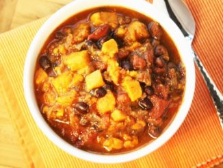 Heart Healthy Chili - Sweet Potato Black Bean Chili