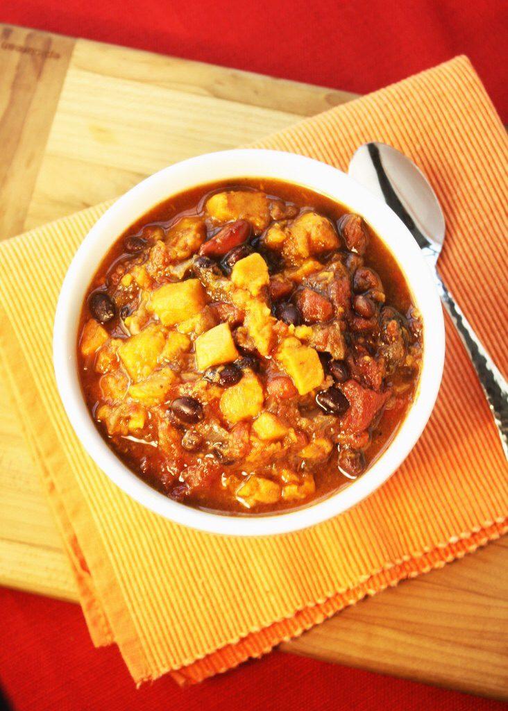 Heart Healthy Chili Sweet Potato Black BeanChili