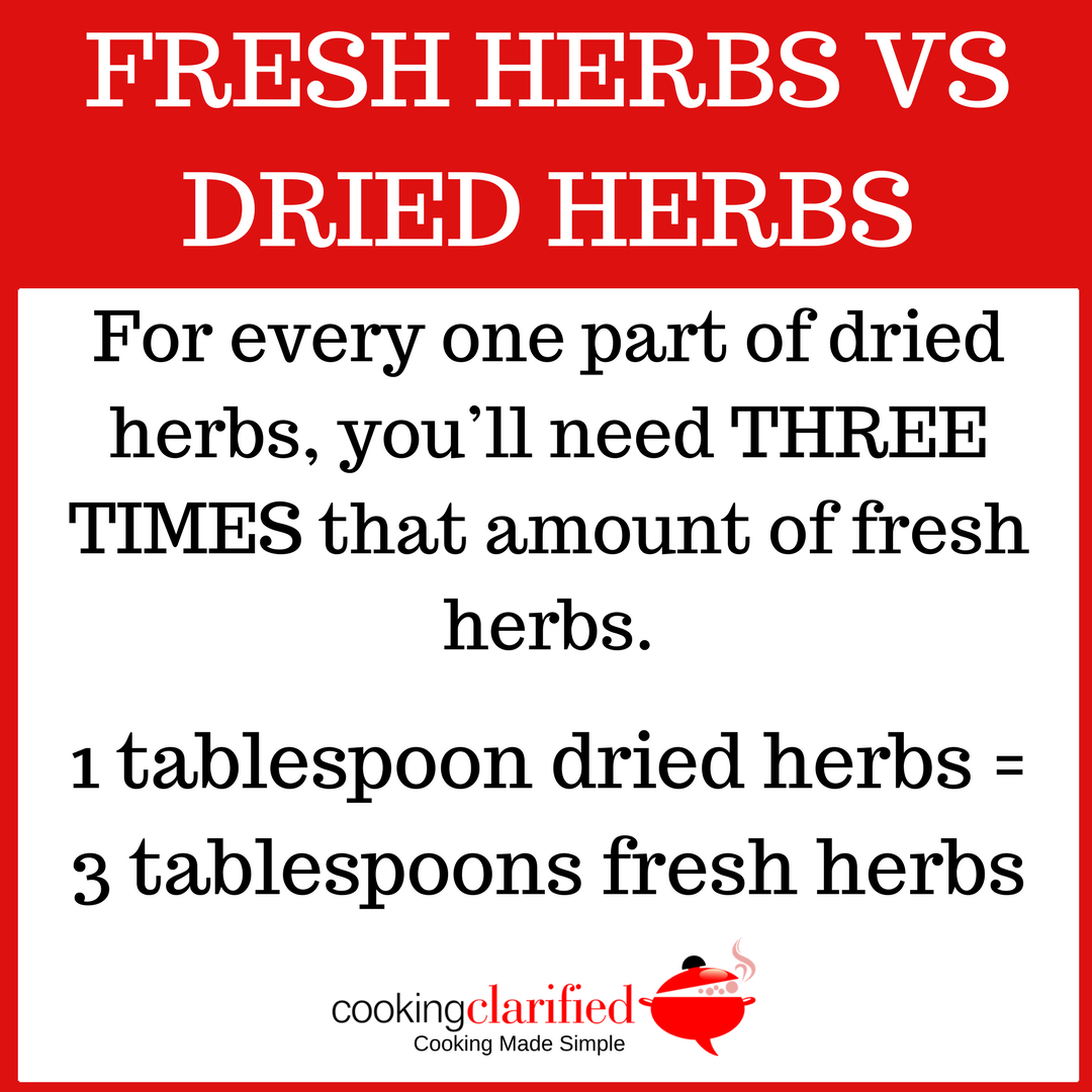 Fresh Herbs vs Dried Herbs - learn the difference!