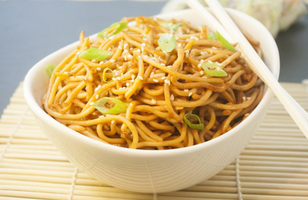 Sesame Noodles are so delicious you'll want to eat them all day long! Toss noodles with a simple sauce, marinate - if you can wait - and serve!