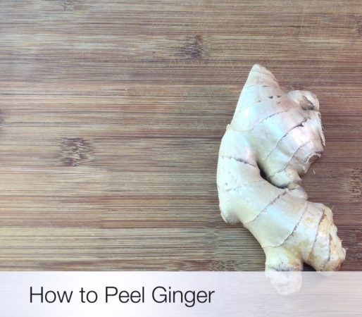 Peel ginger