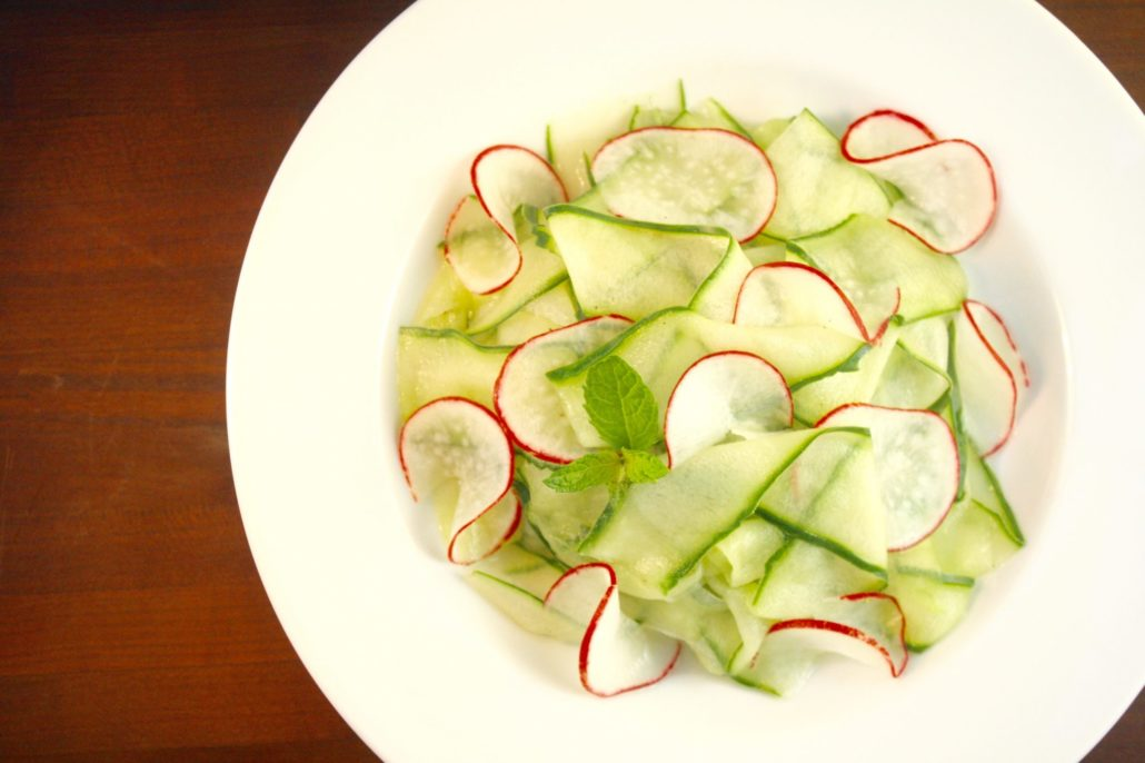 Shaved Cucumber & Radish Salad