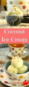 Coconut Ice Cream is just the sweet treat you need to keep cool this summer or any time of year! It's extra creamy with a rich, coconut flavor thanks to coconut extract and coconut milk. You won't be able to stop with one scoop!