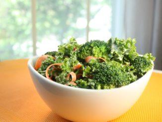 Broccoli, kale & carrot salad