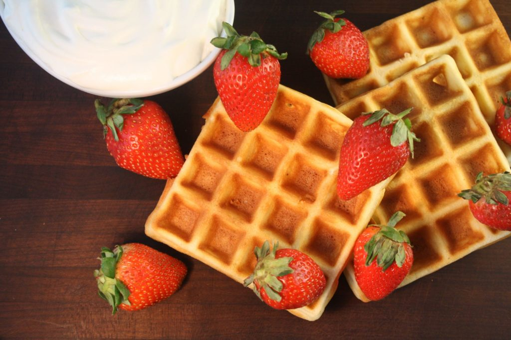 Learning how to make crisp waffles has been a breakfast game-changer! I love to hear that telltale crunch when I take a bite of one and it's still crisp after I've drowned it in maple syrup or berries and whipped cream or if I'm feeling crazy, all three. This recipe makes it so easy!