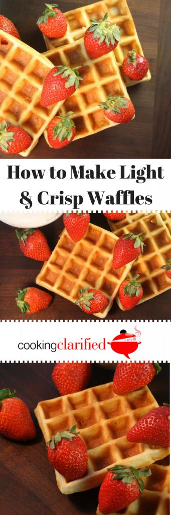 Make crisp waffles
