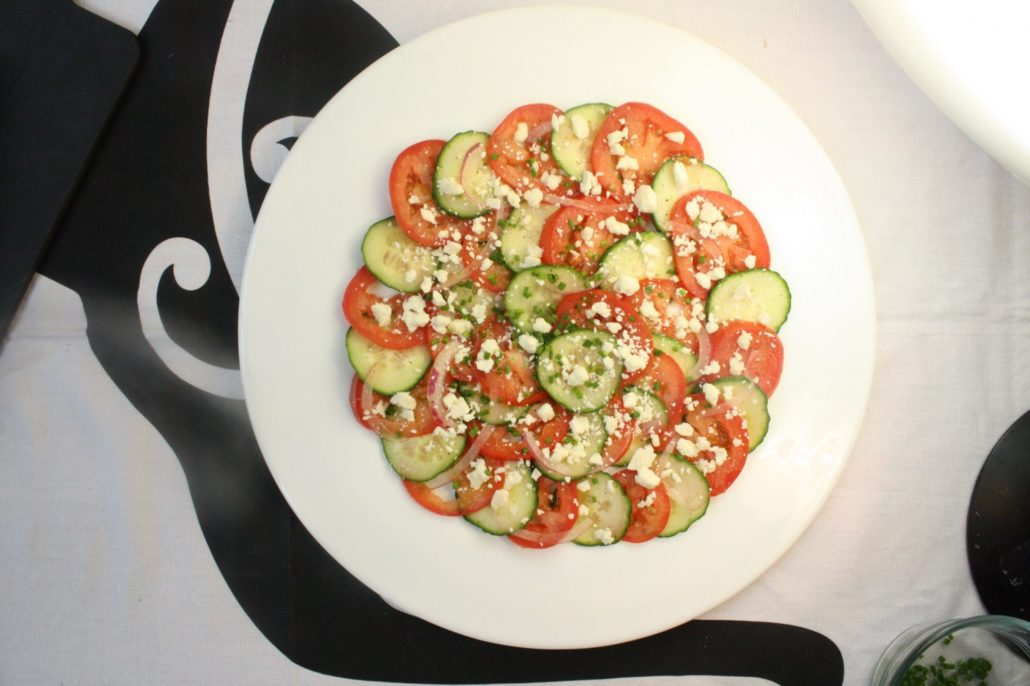 Cucumber & Tomato Salad with Feta