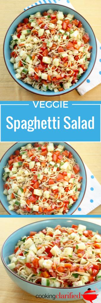 Veggie Spaghetti Salad PIN