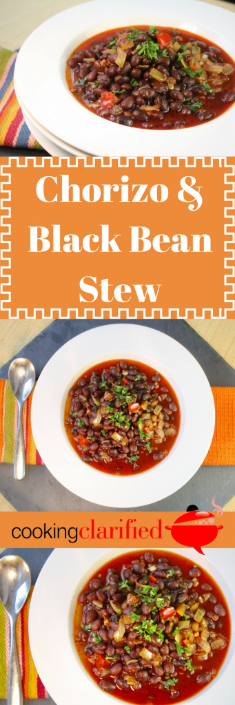 Chorizo black bean stew